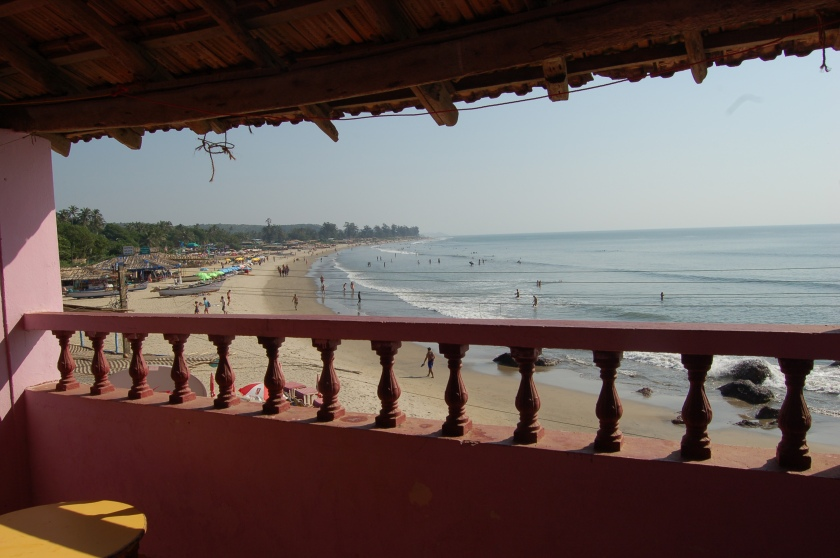 View of Arambol beach from our room