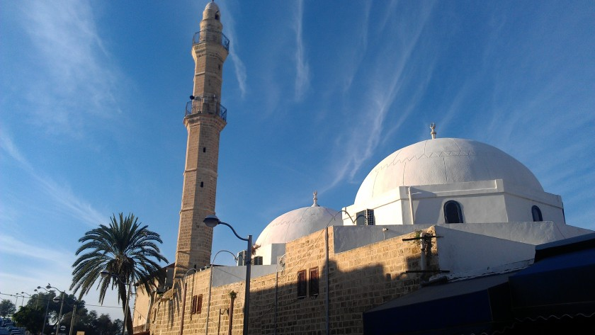A mosque in Jaffa on a beautiful day